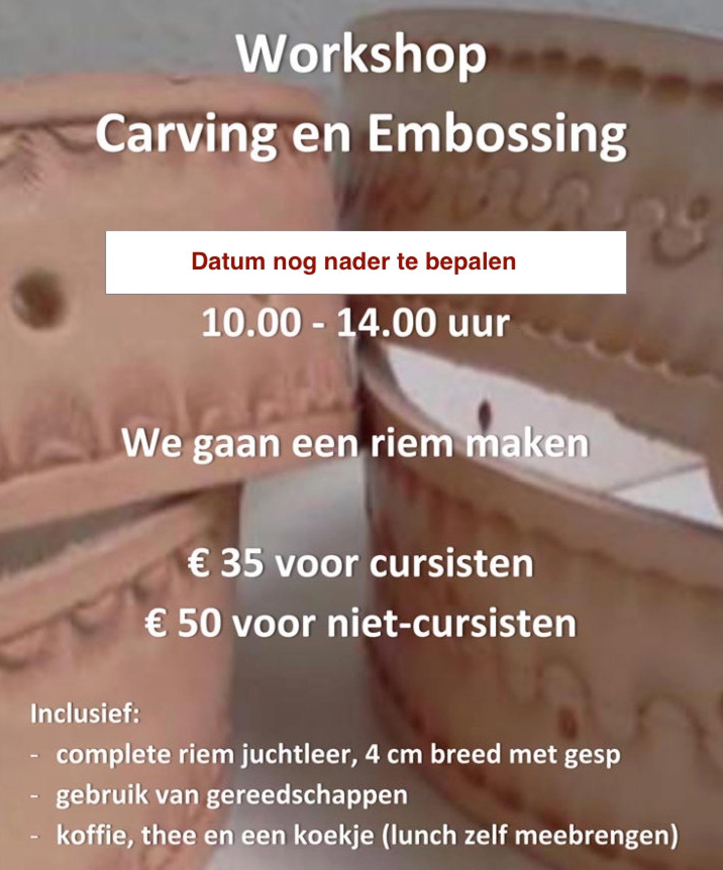 Workshop Carving embossing